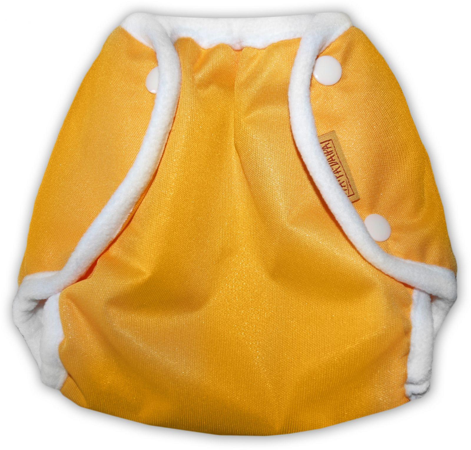 Nepromkovavé svrchní kalhotky na látkové pleny pul, oranžové xl 12-18kg