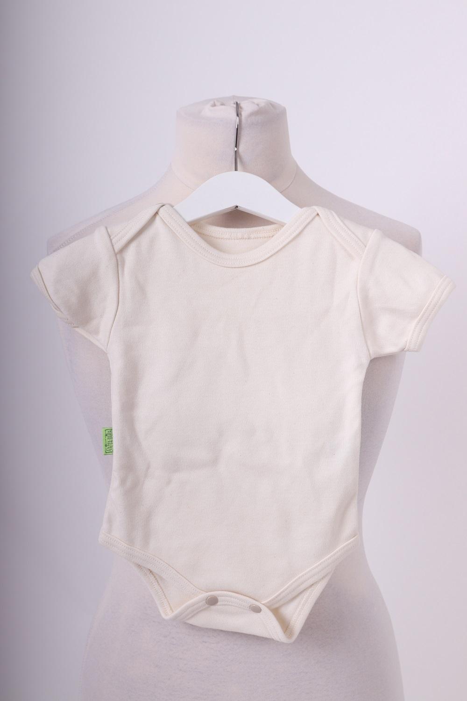 Bio-kojenecké body, kr. rukáv, béžové, 86