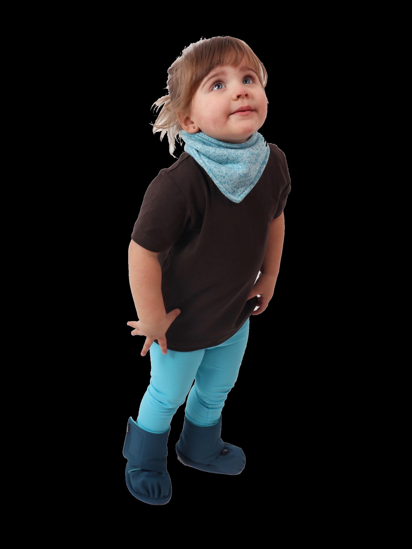 Dětský nákrčník ze svetroviny, tyrkys