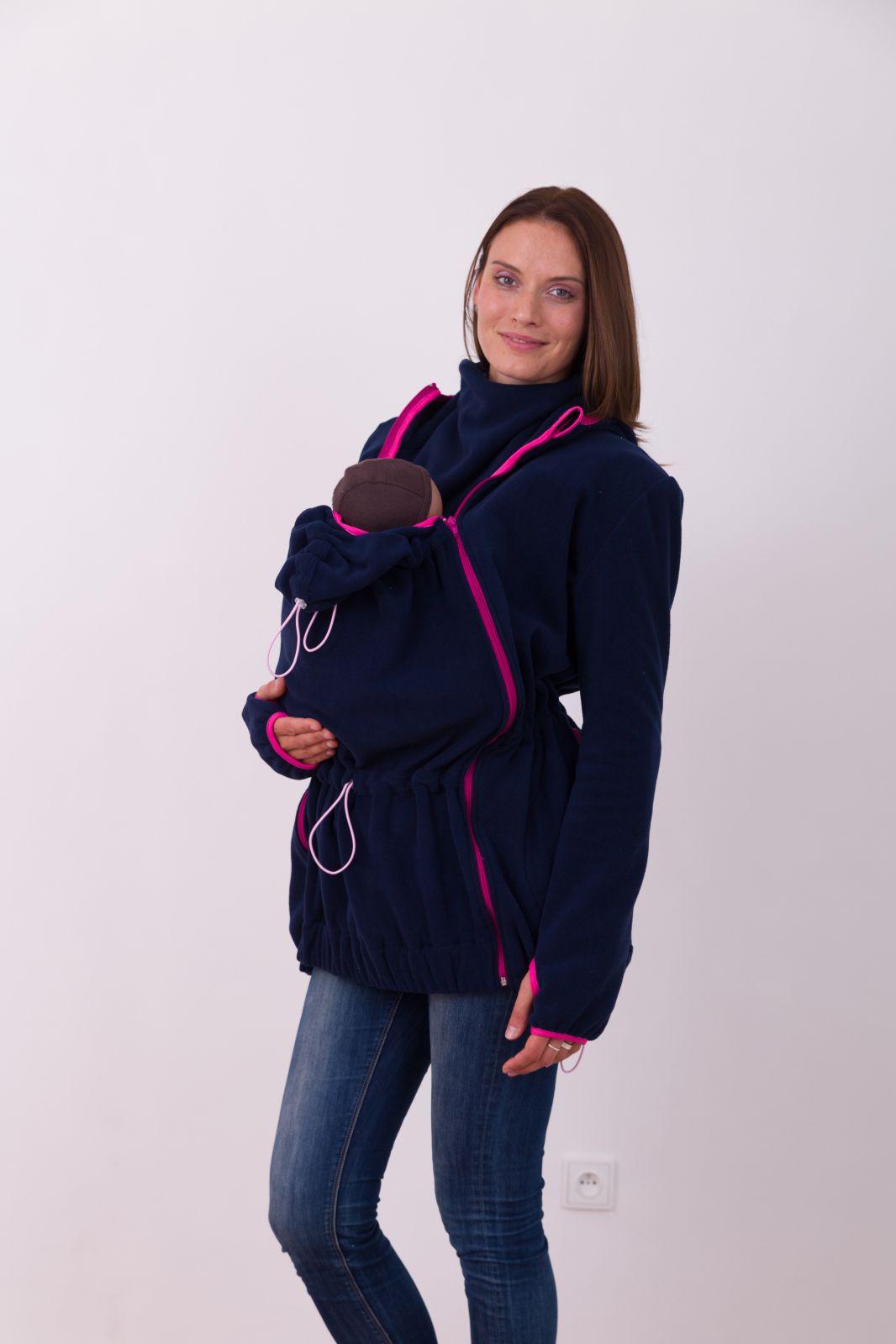 NINA- Tragesweatshirt ( nur vorderes Tragen ), dunkelblau/rosa