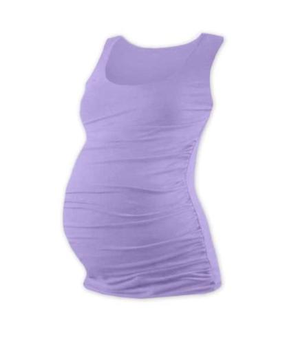 T-shirt for pregnant women Johanka, no sleeves, LAVENDER