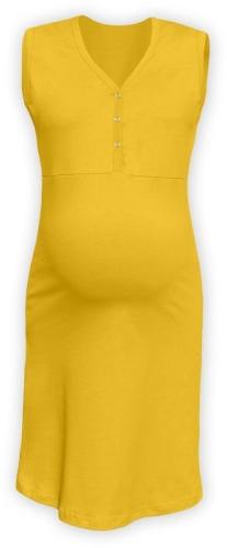 Dojčiace nočná košeľa rozopínajúce, bez rukávov, žltooranžová