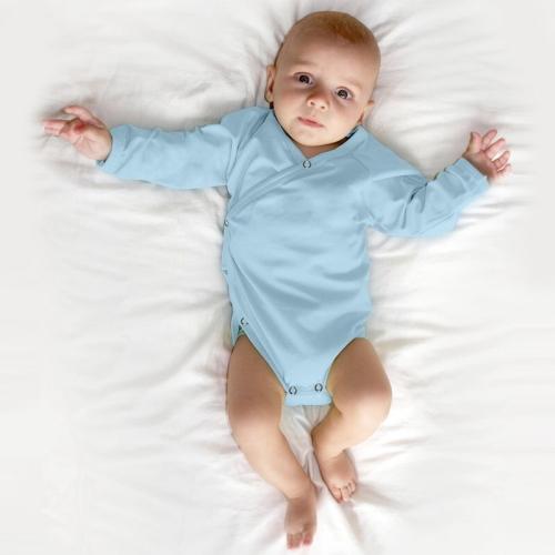 Dojčenské body zavinovacie, svetlo modré