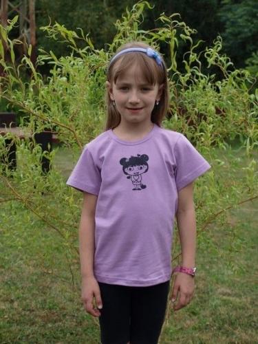 dětské tričko s KR, levandulové, HOLČIČKA