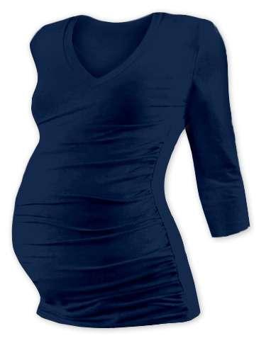Těhotenské tričko vanda, 3/4 rukáv, jeans modré l/xl