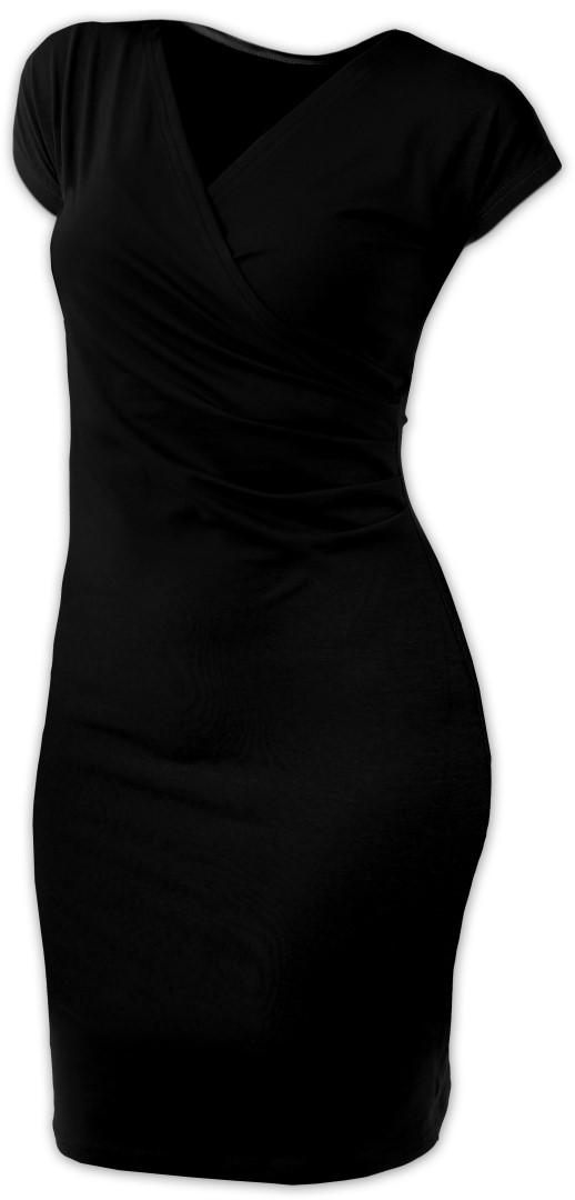 Dámské šaty (i kojicí) Amálie, bez rukávů, černé