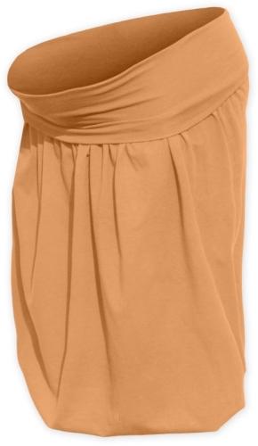 Tehotenská sukňa balónová Sabina, oranžová