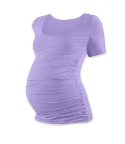 T-shirt for pregnant women Johanka, short sleeves, LAVENDER