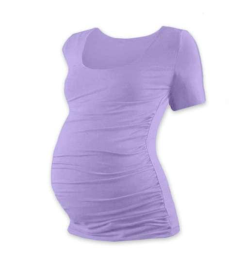 Tehotenské tričko Johanka, krátky rukáv, levanduľovo fialové