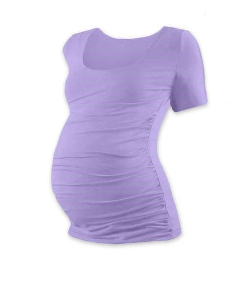 Těhotenské tričko Johanka, krátký rukáv, levandulově fialové