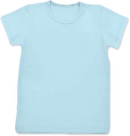 Shirt für Kinder, kurze Ärmel, hellblau