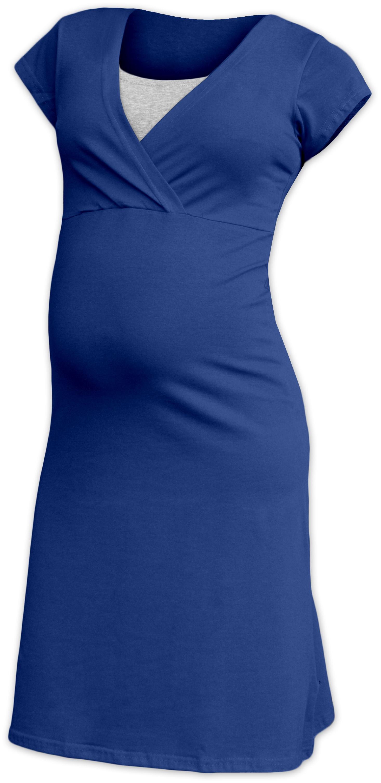 Kojící noční košile eva, krátký rukáv, tmavě modrá (jeans) s/m
