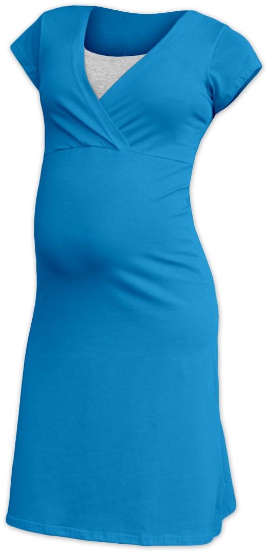 EVA- těhotenská a kojící noční košile, tm. tyrkys