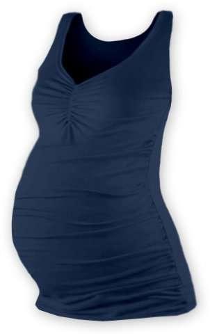 Těhotenské tílko tatiana, tmavě modré (jeans) m/l
