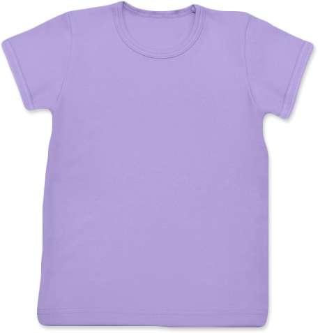 Detské tričko, krátky rukáv, levanduľovej (svetlo fialové)