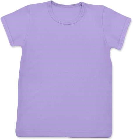Shirt für Kinder, kurze Ärmel, Lavendel