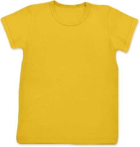 Shirt für Kinder, kurze Ärmel, gelborange