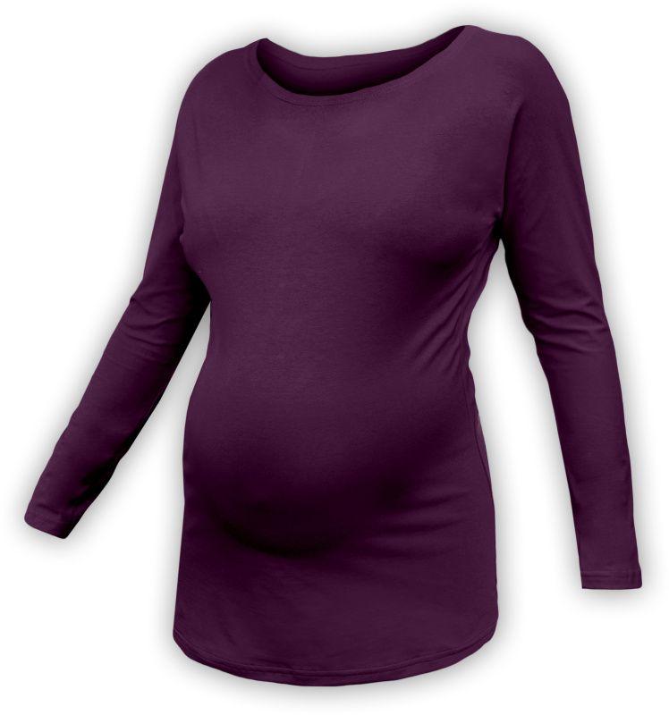 Těhotenské tričko s netopýřími rukávy, DLOUHÝ rukáv