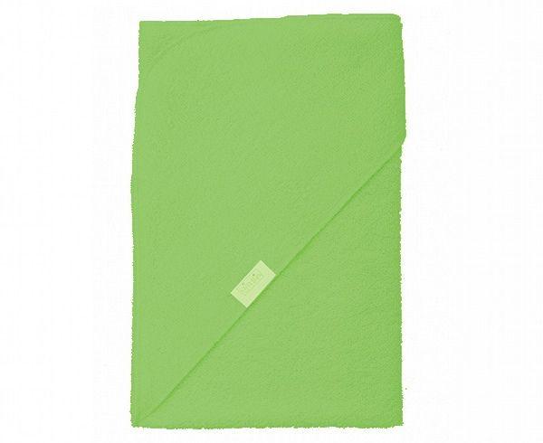 Badetuch mit einem Kapuzchen; 72x72cm, grün