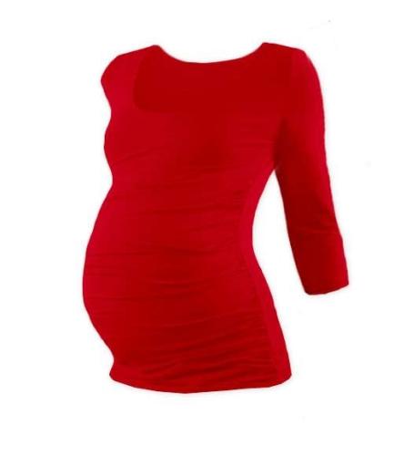 Maternity T-shirt Johanka, 3/4 sleeve, RED