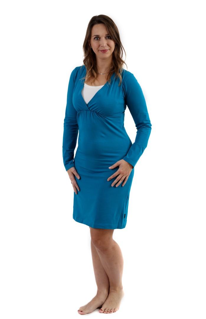 LUCIE- maternity and breast-feeding nightdress, PETROLEUM