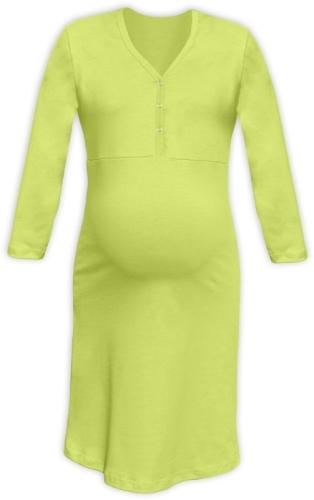 Dojčiace nočné košele rozopínajúce, 3/4 rukáv, svetlo zelená