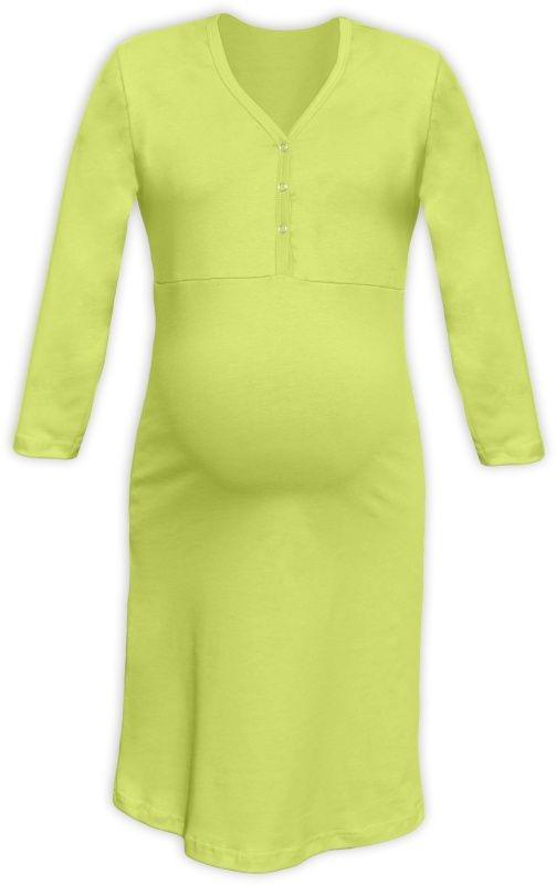 CECILIE- Nachthemd für schwangere und stillende Frauen, 3/4 Ärmel, hellgrün