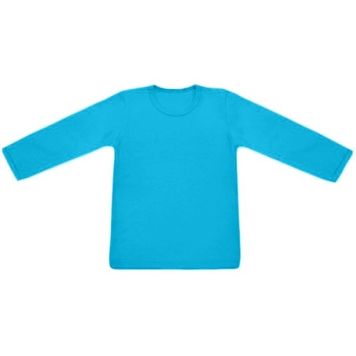 Children's T-shirt, long sleeve, turquoise