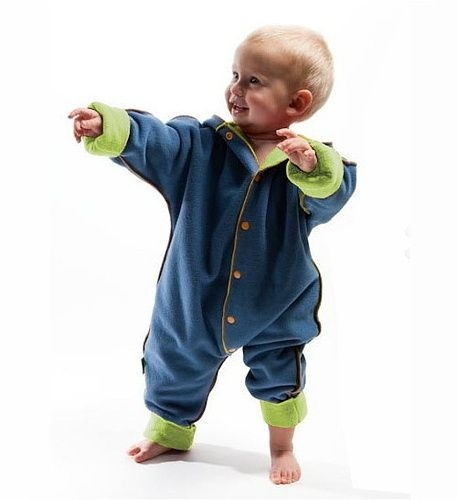 Fleece pramsuit for babies M, L (sizes 62-92), blue