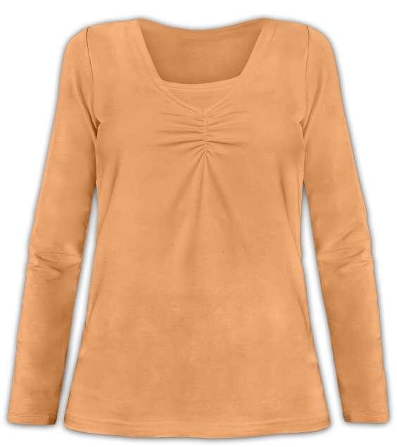KLAUDIE- breast-feeding T-shirt, long sleeves, APRICOT