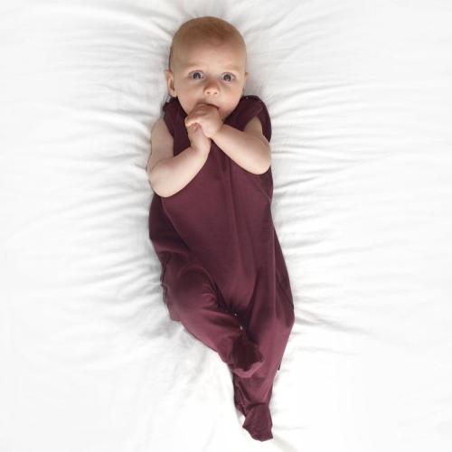 Dojčenské dupačky bavlnené, bordo (hnedo-vínovej)