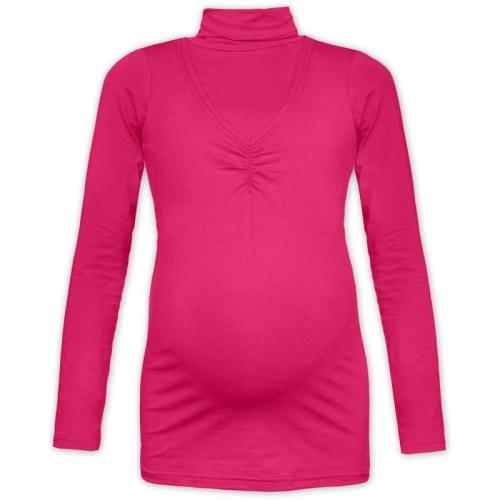 Breast-feeding roll-colar T-shirt Klaudie, DARK PINK