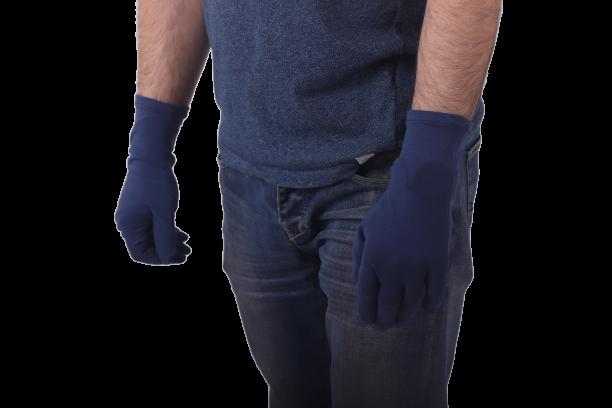 """Rukavice bavlněné, pánské, modré """"jeans"""""""
