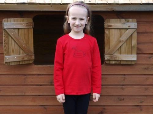 Shirt für Kinder, lange Ärmel, rot