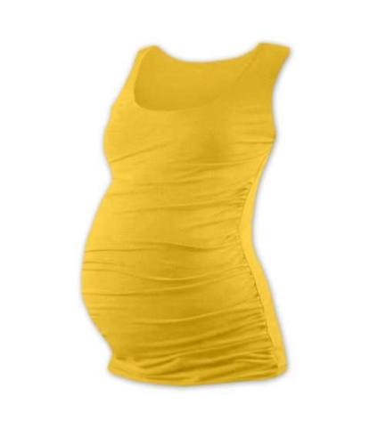 T-shirt for pregnant women Johanka, no sleeves, YELLOW-ORANGE