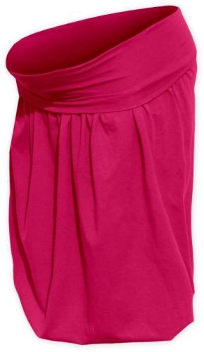 Tehotenská sukňa balónová Sabina, sýto ružová