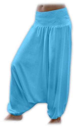 Tehotenské turecké nohavice, tyrkysové