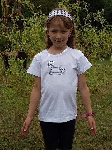 detské tričko s KR, biele, HAD