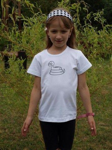 Shirt für Kinder, kurze Ärmel, weiβ